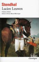 Couverture du livre « Lucien Leuwen » de Stendhal aux éditions Folio