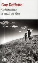 Couverture du livre « Géronimo a mal au dos » de Guy Goffette aux éditions Gallimard