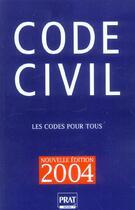 Couverture du livre « Code Civil » de Collectif aux éditions Prat
