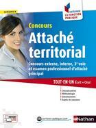 Couverture du livre « Concours attaché térritorial ; catégorie A » de Pascal Tuccinardi aux éditions Nathan