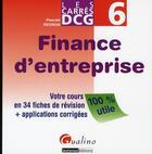 Couverture du livre « Finance d'entreprise » de Pascale Recroix aux éditions Gualino