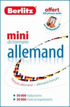 Couverture du livre « Mini dictionnaire allemand ; français-allemand/allemand-français » de Collectif aux éditions Berlitz
