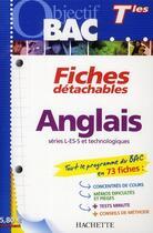 Couverture du livre « Fiches détachables ; anglais ; terminales » de T Corbet et M-C Moser aux éditions Hachette Education