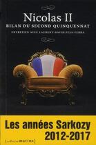 Couverture du livre « Nicolas II ; bilan du second quinquennat » de Laurent-David Puja-Ferra aux éditions Les Petits Matins