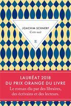 Couverture du livre « Cette nuit » de Joachim Schnerf aux éditions Zulma