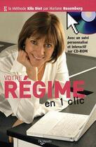 Couverture du livre « Votre regime en 1 clic + 1 cd rom » de Mariane Rosemberg aux éditions De Vecchi