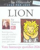 Couverture du livre « Lion (édition 2006) » de Collectif aux éditions Editions 365