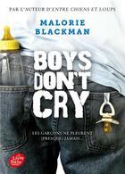 Couverture du livre « Boys don't cry » de Malorie Blackman aux éditions Hachette Jeunesse