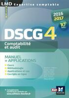 Couverture du livre « DSCG 4 comptabilité et audit manuel et applications (10e édition) » de Micheline Friederich aux éditions Foucher