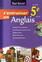 Couverture du livre « S'entraîner en anglais ; 5ème ; cahier d'activités + cd » de L Dedryver aux éditions Hatier