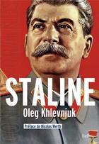 Couverture du livre « Staline » de Oleg Khlevniuk aux éditions Belin