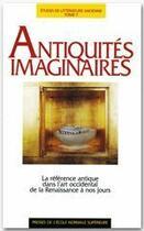 Couverture du livre « Antiquités imaginaires » de Hauffmann aux éditions Rue D'ulm