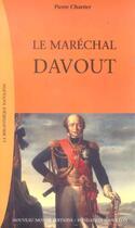 Couverture du livre « Le marechal davout » de Pierre Charrier aux éditions Nouveau Monde
