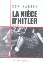 Couverture du livre « La niece d'hitler » de Ron Hansen aux éditions Buchet Chastel
