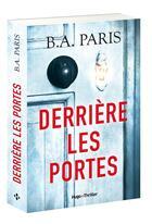 Couverture du livre « Derrière les portes » de Paris B.A. aux éditions Hugo Roman