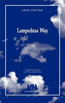 Couverture du livre « Lampedusa Way » de Lina Prosa aux éditions Solitaires Intempestifs
