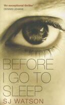 Couverture du livre « BEFORE I GO TO SLEEP » de Steven J. Watson aux éditions Black Swan