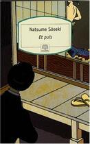 Couverture du livre « Et puis » de Soseki Natsume aux éditions Motifs
