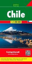 Couverture du livre « Chile ; road map » de Collectif aux éditions Freytag Und Berndt