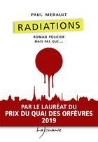 Couverture du livre « Radiations » de Paul Merault aux éditions Lajouanie