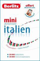 Couverture du livre « Mini dictionnaire italien ; français-italien/italien-français » de Collectif aux éditions Berlitz