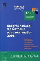 Couverture du livre « Congrès d'anesthésie et de réanimation (édition 2008) » de Sfar aux éditions Elsevier-masson