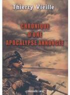 Couverture du livre « Chronique d'une apocalypse annoncée » de Thierry Vieille aux éditions Presses Du Midi