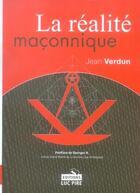 Couverture du livre « La réalité maçonnique » de Verdun J aux éditions Luc Pire