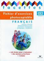 Couverture du livre « Facettes ; Ce2 ; Fichier D'Exercices Photocopiable (Edition 2009) » de Michele Schottke aux éditions Hatier