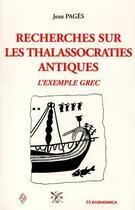 Couverture du livre « Les Thalassocraties Antiques » de Jean Pages aux éditions Economica