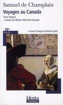 Couverture du livre « Voyages au Canada » de Samuel De Champlain aux éditions Gallimard