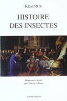 Couverture du livre « Histoire Des Insectes » de Reaumur (De) R-A. aux éditions Millon