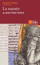 Couverture du livre « La nausee, de jean-paul sartre (essai et dossier) » de Jacques Deguy aux éditions Folio