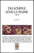 Couverture du livre « Du Souffle Sous La Plume N 3, Poesie, Ouvrage Collectif » de Collectif aux éditions Rezobook