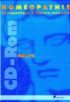 Couverture du livre « Homeopathie Therapeutique Et Matiere Medicale » de Jouanny aux éditions Cedh