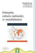 Couverture du livre « Entreprise, cultures nationales et mondialisation » de Joel Bremond aux éditions Crini