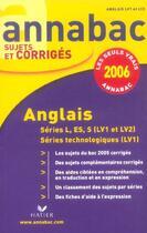 Couverture du livre « Anglais Lv1/Lv2 » de Collectif aux éditions Hatier