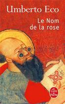 Couverture du livre « Le nom de la rose » de Umberto Eco aux éditions Lgf