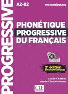 Couverture du livre « Phonetique progressive du francais niveau intermediaire + cd ne » de Charliac Lucile aux éditions Cle International