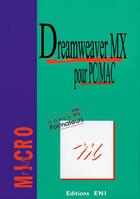 Couverture du livre « Dreamweaver mx pour pc-mac » de Collectif aux éditions Eni