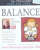 Couverture du livre « Balance (édition 2006) » de Collectif aux éditions Editions 365