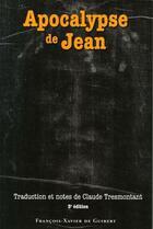 Couverture du livre « Apocalypse De Jean 3e Edition » de Tresmontant C aux éditions Francois-xavier De Guibert