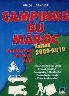 Couverture du livre « Camping du Maroc, Mauritanie, Sénégal, Mali ; saison 2009-2010 » de Gandini-Verhooste aux éditions Serre