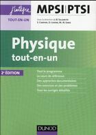 Couverture du livre « Physique tout-en-un MPSI-PTSI (2e édition) » de Damien Jurine et Stephane Cardini et Bernard Salamito et Marie-Noelle Sanz aux éditions Dunod
