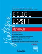 Couverture du livre « 4 - cours tout-en-un - biologie tout-en-un BCPST 1re année (4e édition) » de Pierre Peycru et Didier Grandperrin aux éditions Dunod