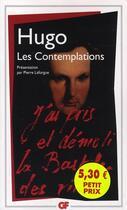 Couverture du livre « Les contemplations » de Victor Hugo aux éditions Flammarion