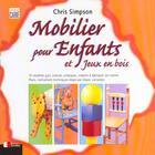 Couverture du livre « Mobilier Pour Enfants Et Jeux En Bois » de Simpson aux éditions Eyrolles
