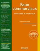 Couverture du livre « Baux commerciaux ; industriels et artisanaux (14e édition) » de Anne D' Andigne-Morand aux éditions Delmas