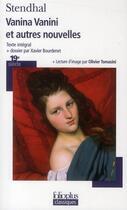 Couverture du livre « Vanina Vanini ; et autres nouvelles » de Stendhal aux éditions Gallimard