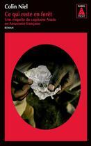 Couverture du livre « Ce qui reste en forêt » de Colin Niel aux éditions Actes Sud